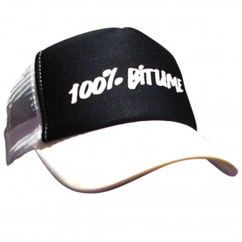 Motorcycle Caps 100% Bitume Cap Asphalt White Black