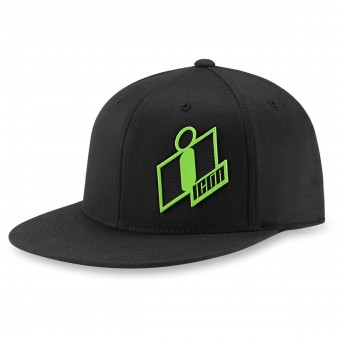 Motorcycle Caps ICON Double Up Hat Black