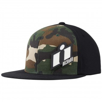 Motorcycle Caps ICON Double Up Hat Camo