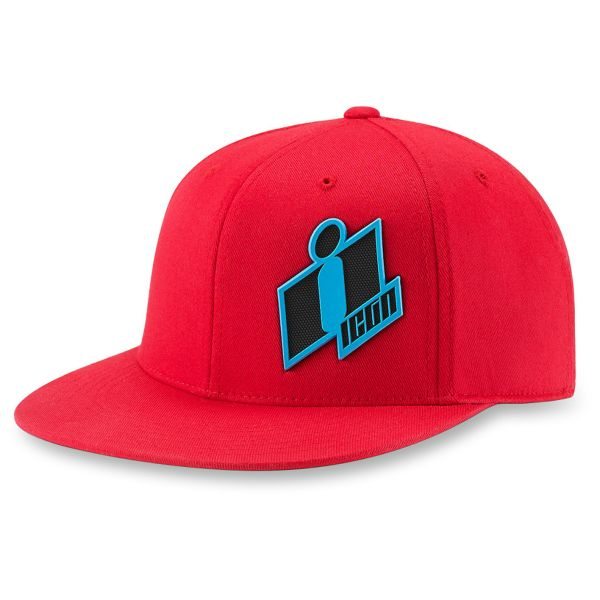 Motorcycle Caps ICON Double Up Hat Red
