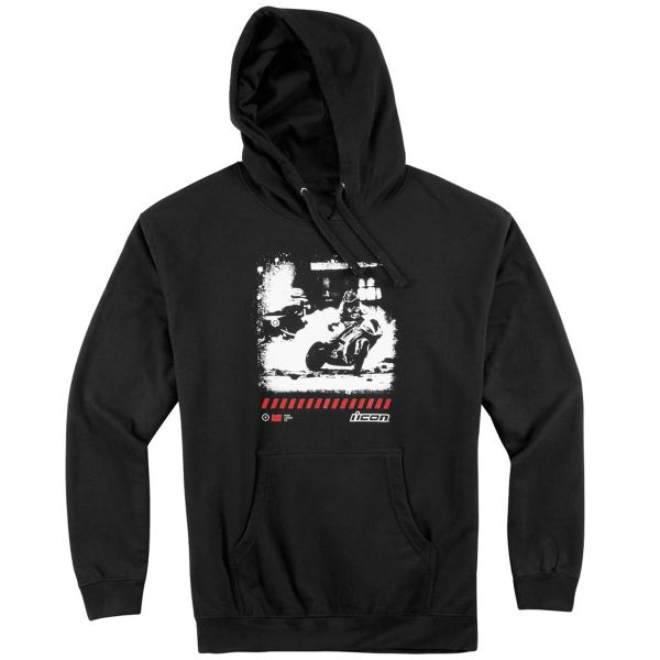 Motorcycle Hoodie ICON Clash Black