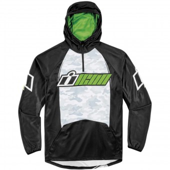 Motorcycle Hoodie ICON Single Stack Green
