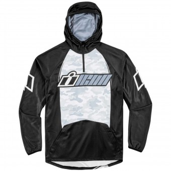 Motorcycle Hoodie ICON Single Stack Grey