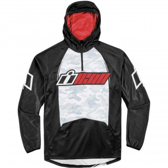 Motorcycle Hoodie ICON Single Stack Red