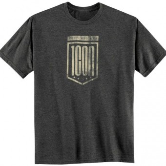 Motorcycle T-Shirts ICON 1000 Crest Heather Grey