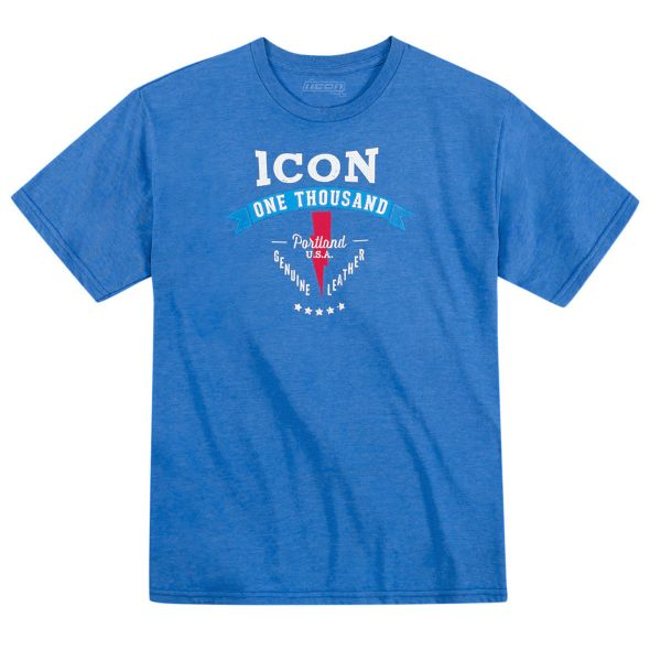 Motorcycle T-Shirts ICON 1000 Two Timer Heather Blue