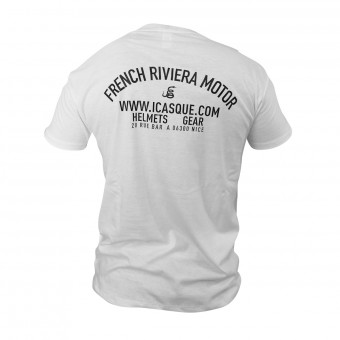 Motorcycle T-Shirts iCasque French Riviera Motor White