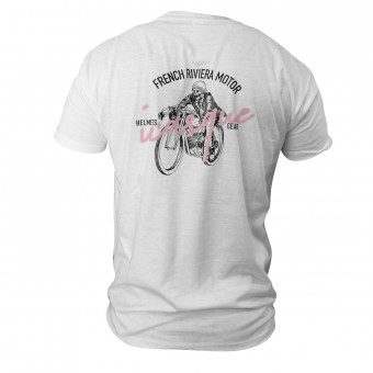 Motorcycle T-Shirts iCasque French Skull Riviera White