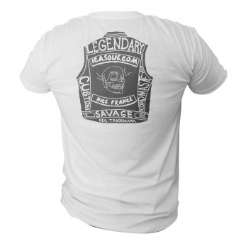 Motorcycle T-Shirts iCasque Legendary Cut White