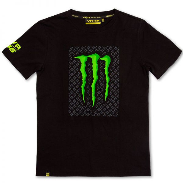 Motorcycle T-Shirts VR 46 T-Shirt 01 Monster Black VR46