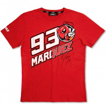 Motorcycle T-Shirts Marquez 93 T-Shirt Red MM93