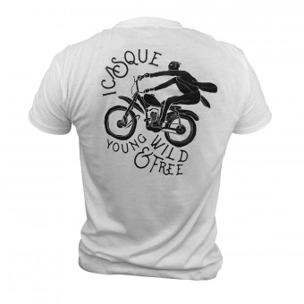 Motorcycle T-Shirts iCasque YWF White