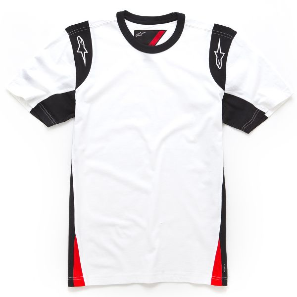 Motorcycle T-Shirts Alpinestars Austin SS Knit Tee White