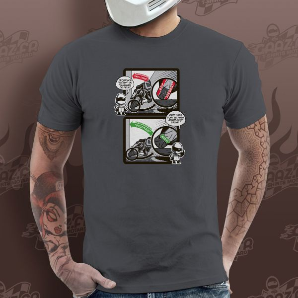 Motorcycle T-Shirts Gaaz Bande de Peur (Dark Grey)