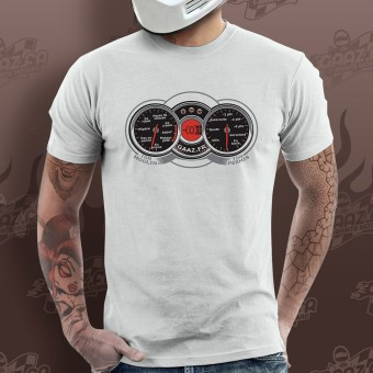 Motorcycle T-Shirts Gaaz Compteur (White)