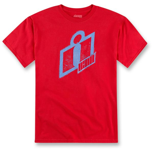Motorcycle T-Shirts ICON Double Up Tee Red