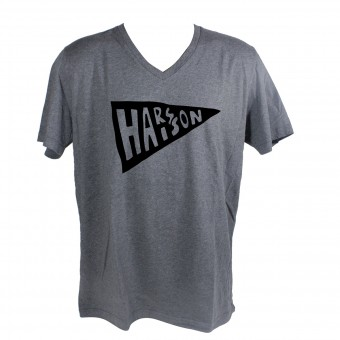 Motorcycle T-Shirts HARISSON Flag Grey