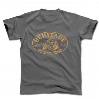 Motorcycle T-Shirts HARISSON Heritage Grey