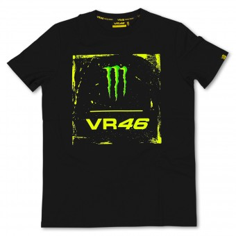 Motorcycle T-Shirts VR 46 Monster Black VR46