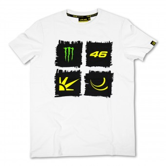 Motorcycle T-Shirts VR 46 Monster White VR46