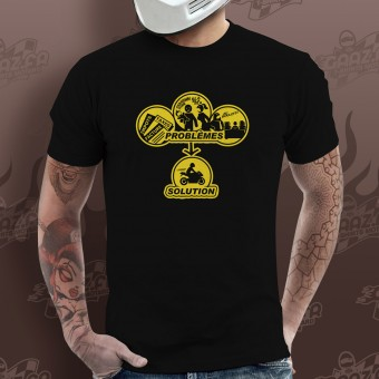 Motorcycle T-Shirts Gaaz Solution ! (Army)