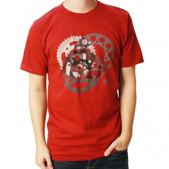 Motorcycle T-Shirts Alpinestars Sprockets Tee Rio Red
