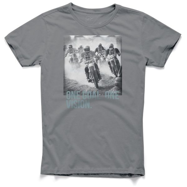 Motorcycle T-Shirts Alpinestars Stampede Tee Charcoal