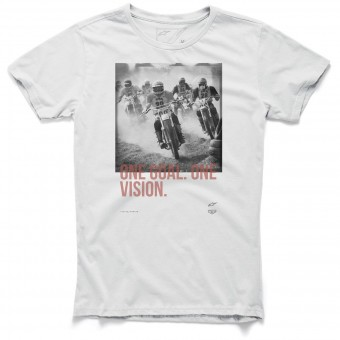 Motorcycle T-Shirts Alpinestars Stampede Tee Off White