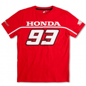 Motorcycle T-Shirts Marquez 93 T-Shirt Basic Honda Red MM93