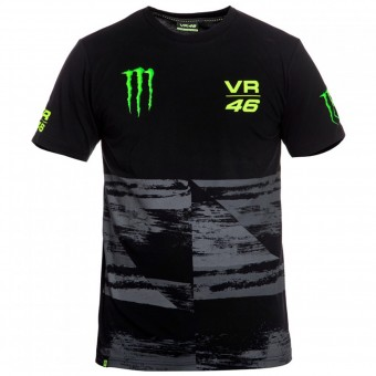 Motorcycle T-Shirts VR 46 T-Shirt Monster Black VR46