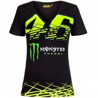 Motorcycle T-Shirts VR 46 T-Shirt Woman Monza Monster VR46