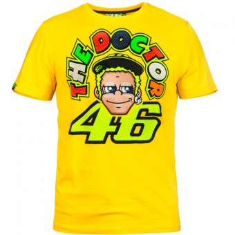 Motorcycle T-Shirts VR 46 T-Shirt Yellow Face VR46
