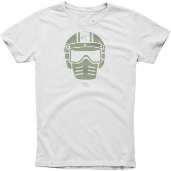 Motorcycle T-Shirts Alpinestars Visor Tee Off White