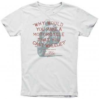 Motorcycle T-Shirts Alpinestars Wheelie Tee Off White