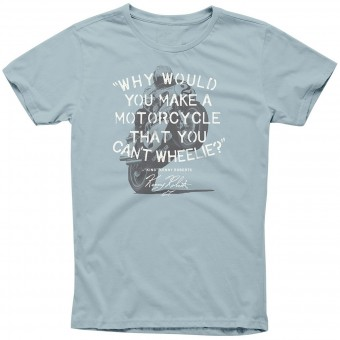 Motorcycle T-Shirts Alpinestars Wheelie Tee Slate Blue