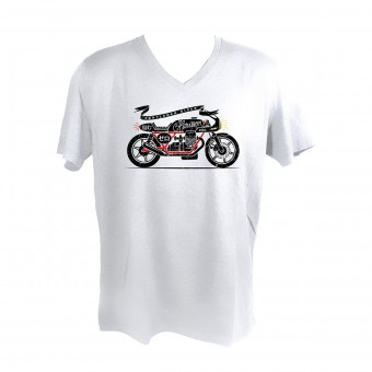 Motorcycle T-Shirts HARISSON Zero White