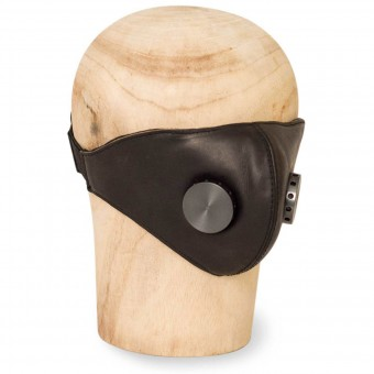 Helmet Spares HEDON Black Hannibal Hypno Calf Leather Face Mask