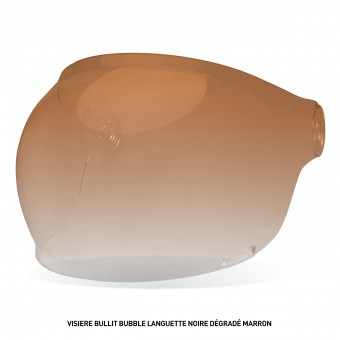 Visors Bell Bullit Bubble Visor with Brown leather Tab