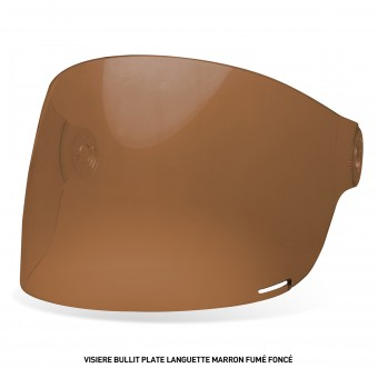 Visors Bell Bullit Flat Visor with Brown leather Tab