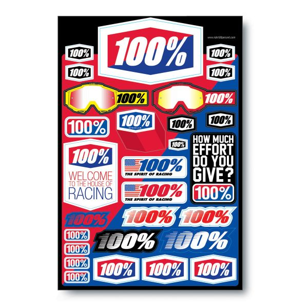Stickers 100% Decal Sheet