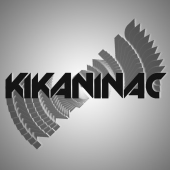 Stickers Kikaninac Pack of 5 Stickers Kikaninac 10x2cm Black