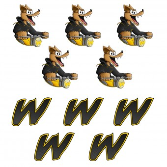 Stickers Walane 10 Stickers Walane and W