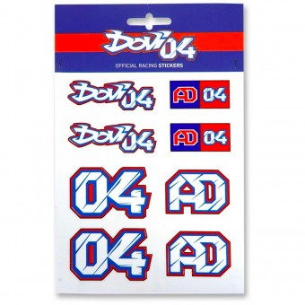 Stickers Andrea Dovizioso Stickers Multicolor Dovizioso 04