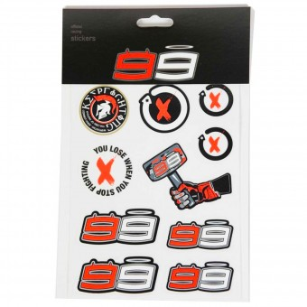 Stickers Jorge Lorenzo Stickers Small Lorenzo Multicolor