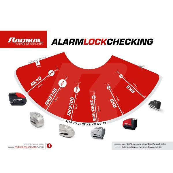 Radikal SRA Inox Diameter 14 Disc Lock With Alarm