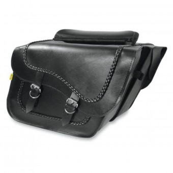 Saddlebags Wille & Max Braided Slant Saddlebags