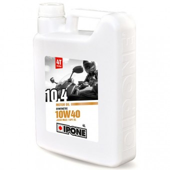 Motorcycle Oil IPONE 10.4 - 10W40 Synthetic - 4 Litre 4T
