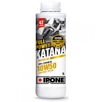 Motorcycle Oil IPONE Full Power Katana - 10W50 100 % Synthetic - 1 Litre 4T