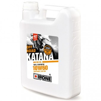 Motorcycle Oil IPONE Katana Off Road - 10W60 100 % Synthetic - 4 Litre 4T