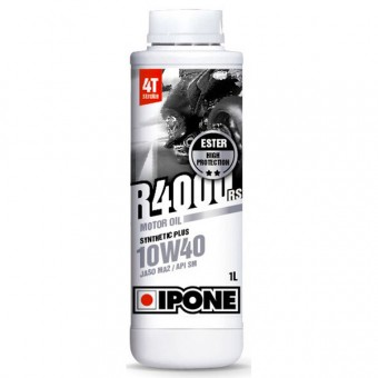 Motorcycle Oil IPONE R4000 RS - 10W40 Synthetic Plus - 1 Litre 4T